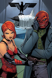 Uncanny Avengers No. 6 Panel Featuring Sin, Red Skull Prints by Carlos Pacheco
