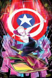 Robbi Rodriguez - Spider-Gwen No. 6 Cover Featuring Captain America, Spider-Gwen Plakát