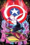 Spider-Gwen No. 6 Cover Featuring Captain America, Spider-Gwen Poster von Robbi Rodriguez