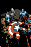 Captain America: Sam Wilson No. 7 Cover Featuring Falcon Cap, Captain America and More Prints by Chris Sprouse