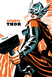 Michael Cho - Mighty Thor No. 4 Cover Featuring Thor (Female) Plakát