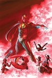 Alex Ross - All-New, All-Different Avengers No. 6 Cover Featuring Vision, Iron Man, Falcon Cap and More Plakát