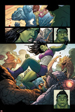 Totally Awesome Hulk No. 4 Panel Featuring She-Hulk, Totally Awesome Hulk Print by Frank Cho