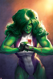 Totally Awesome Hulk No. 4 Cover Featuring She-Hulk Prints by Meghan Hetrick