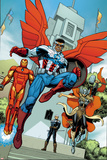 Avengers Standoff: Assault On Pleasant Hill Alpha No. 1 Cover Featuring Iron Man and More Posters por Arthur Adams