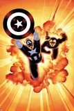 Captain America: Sam Wilson No. 7 Cover Featuring Captain America, Bucky Barnes Poster by John Cassaday