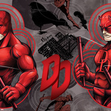 Marvel Knights - Daredevil Pattern Design Prints
