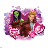 Guardians of The Galaxy Art Featuring Star-Lord, Gamora Prints
