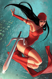 Daredevil No. 5 Cover Featuring Elektra Prints by Sara Pichelli