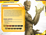 Guardians of The Galaxy Profile Featuring Groot Poster