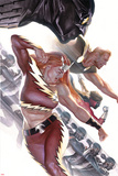 Squadron Supreme No. 4 Cover Featuring Nighthawk, Hyperion, Blur, Thundra, Doctor Spectrum Poster by Alex Ross