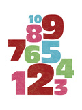 Fun Numbers Giclee Print by Max Carter