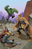 Squadron Supreme No. 4 Cover Featuring Hulk, Hyperion, Thor Posters by Bob McLeod