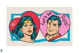 DC Comics Art - Vintage Valentine Featuring Wonder Woman Posters
