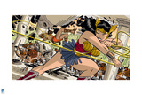 Wonder Woman Comics Art Posters