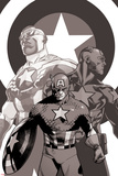 Captain America: Sam Wilson No. 7 Cover Featuring Falcon Cap and More Prints by Mahmud Asrar