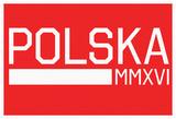 Polska MMXVI Horizontal Red Fan Sign Prints