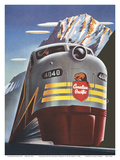 Canadian Pacific Railway Company - Diesel Locomotive Train - CPR Logo Beaver Shield Poster by Peter Ewart
