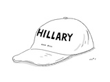 Hillary and Bill Hat - Cartoon Premium Giclee Print by Kim Warp