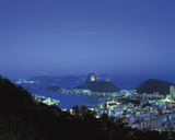 Rio at Night Giclee Print by Bent Rej