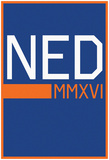 NED MMXVI Vertical Blue Fan Sign Prints