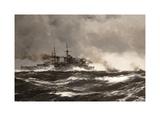 HMS Scylla Premium Giclee Print by Montague Dawson
