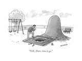 """O.K., Peter, time to go."" - New Yorker Cartoon Premium Giclee Print by Jason Patterson"
