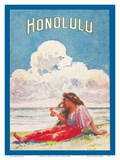 Honolulu, Hawaii - Moana and Royal Hawaiian Hotels Booklet Posters by W.R.R. Potter