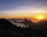Sunset over Rio Giclee Print by Bent Rej