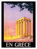 En Grece (in Greece) - Ancient Temple of Zeus - Athens, Greece Prints by Pierre Commarmond