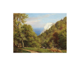 Summer Day At Moens Klint, Denmark Premium Giclee Print by Carl Frederic Aagaard