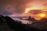 Sunset In Rio Giclee Print by Bent Rej