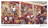 F.X. McRory's Whiskey Bar-Seattle Prints by LeRoy Neiman