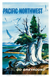 Pacific Northwest - Go Greyhound (Greyhound Bus Lines) Posters by S. Heming