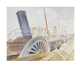 Paddle Steamers, Bristol Quay Limited Edition by Eric Ravilious