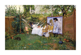 Open Air Breakfast, c.1888 Premium Giclee Print by William Merritt Chase