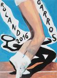 Roland Garros Affiche par Marc Desgrandchamps