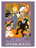 For Christmas Shop between 10 & 4 and Travel Underground - London Underground Prints by Horace Taylor