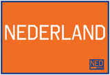 Nederland Horizontal Orange Fan Sign Print