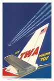 Boeing 707 - Fly TWA (Trans World Airlines) Prints by David Klein
