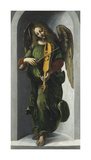 An Angel in Green with a Vielle Premium Giclee Print by Leonardo Da Vinci
