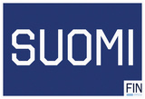 SUOMI Blue Fan Sign Print