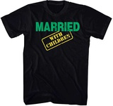 Married With Children- Green & Yellow Logo T-Shirt