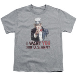 Youth: Army- Uncle Sam Wants You T-shirts