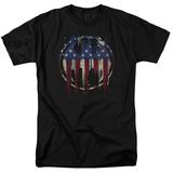Batman- Graffiti Flag Shield Shirt