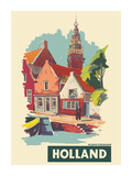 Monnickendam, Holland - The Netherlands - De Speeltoren (Carillon Tower) Premium Giclee Print by A Frederics
