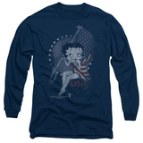 Long Sleeve: Betty Boop- Patrioic Icon Long Sleeves