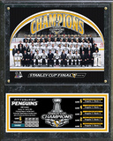 NHL Pittsburgh Penguins 2016 Stanley Cup Champions Team Sit Down Plaque Wall Sign