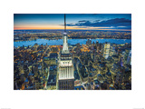 Jason Hawkes- Empire State Building At Night Prints by Jason Hawkes