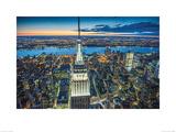 Jason Hawkes- Empire State Building At Night Print by Jason Hawkes
